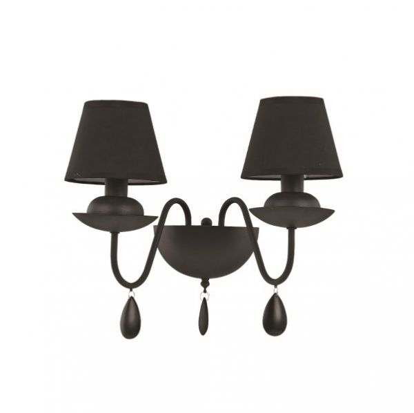 Shade wall lamp Blanche black