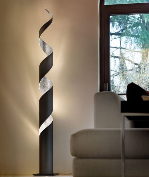 Braga twisted floor lamp Truciolo E27