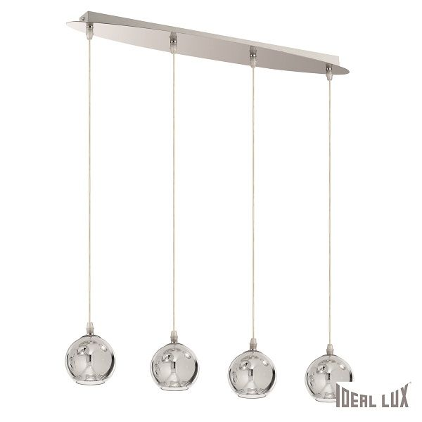 Ideal Lux glass pendant lamp Discovery chrome G9
