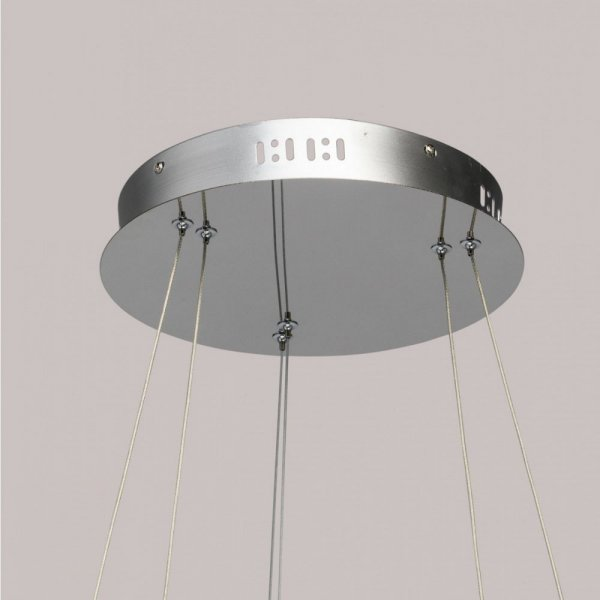 Crystal LED chandelier Goslar 2 rings dimmable