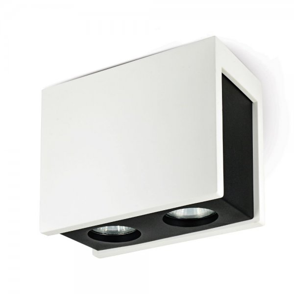 Ceiling spotlight Puro Nero white/black 2-flames