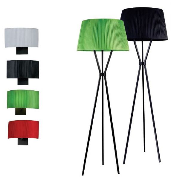 Maytoni tripod pleated fabric floor lamp Toronto