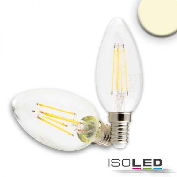 E14 LED candle lamp 4W dimmable warm white, clear