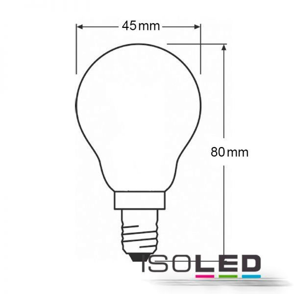 E14 LED drop lamp 4W warm white, clear
