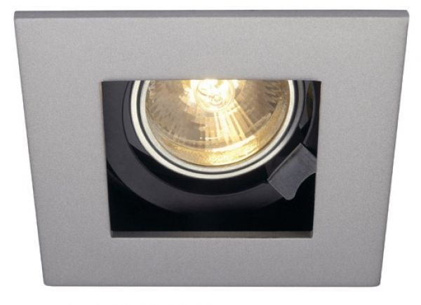 SLV Indi Rec 1s square downlight LED GU10 silver