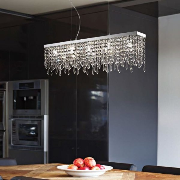 Ideal Lux crystal pendant lamp Giada clear