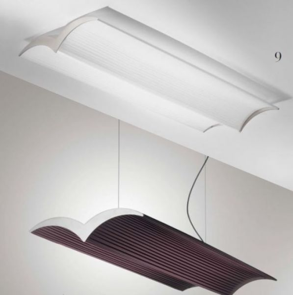 Lika lighting pleated fabric ceiling lamp Fly