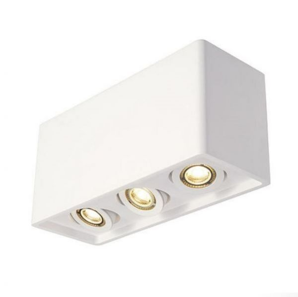 SLV Plastra Box 3 ceiling cube lamp gypsum