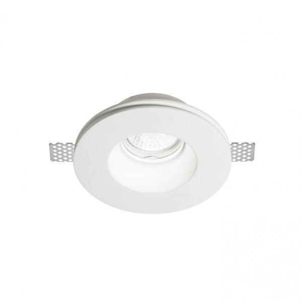 Ideal Lux gypsum downlight Samba Round D74