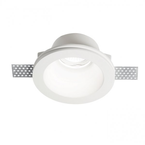 Ideal Lux gypsum downlight Samba Round D90