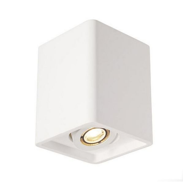 SLV Plastra Box 2 ceiling cube lamp gypsum