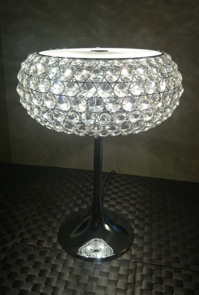 Verchromte Kristall Tischlampe Star Illuminati lighting big 35cm
