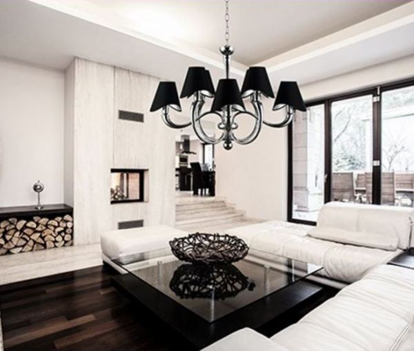 Maytoni black chandelier Boscage