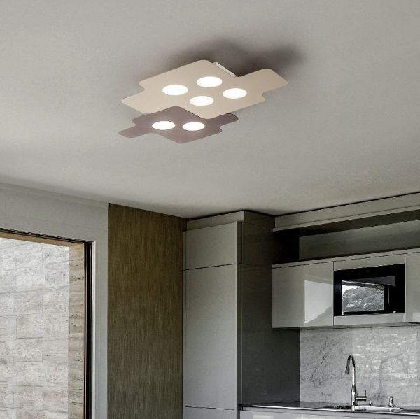 Braga square LED ceiling lamp Puzzle 60cm