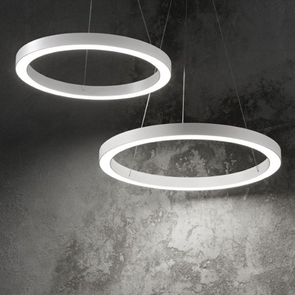 Ideal Lux LED ring pendant lamp Oracle white