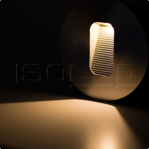 Outdoor LED step lighting round stainless steel, IP65