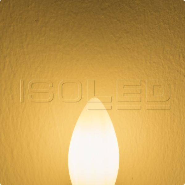 E14 LED candle lamp 4W milky warm white dimmable