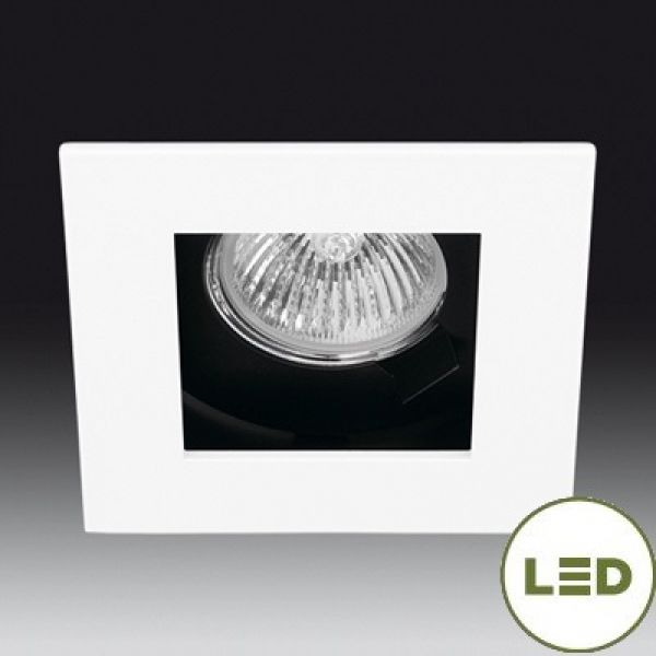 Onok square LED recessed spotlight 186 GU10