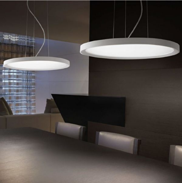 Ideal Lux round flat LED pendant lamp Ufo