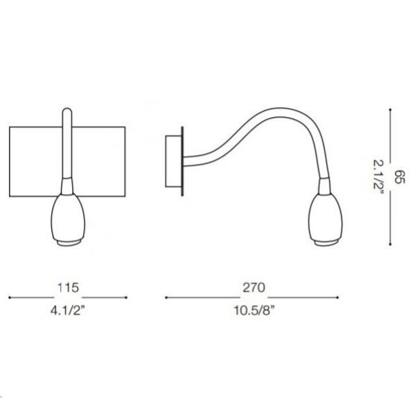 Ideal Lux LED wall reading lamp Orson