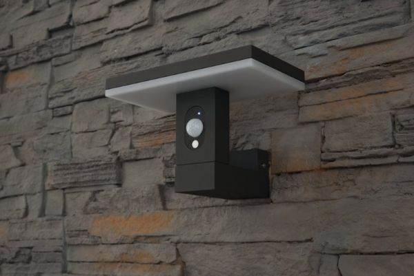 Solar LED wall lamp Ariane with sensor