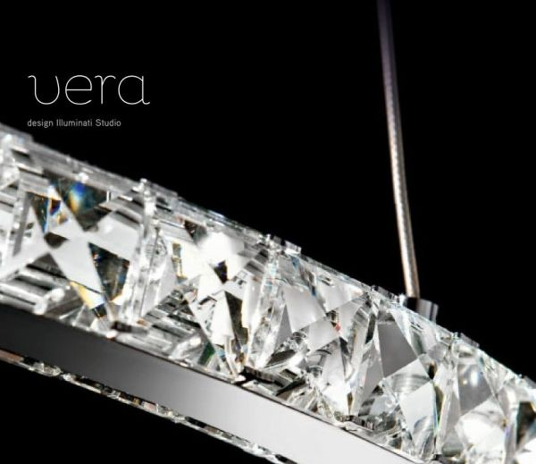 Vera Illuminati lighting LED Kristall Pendelleuchte ringform detail