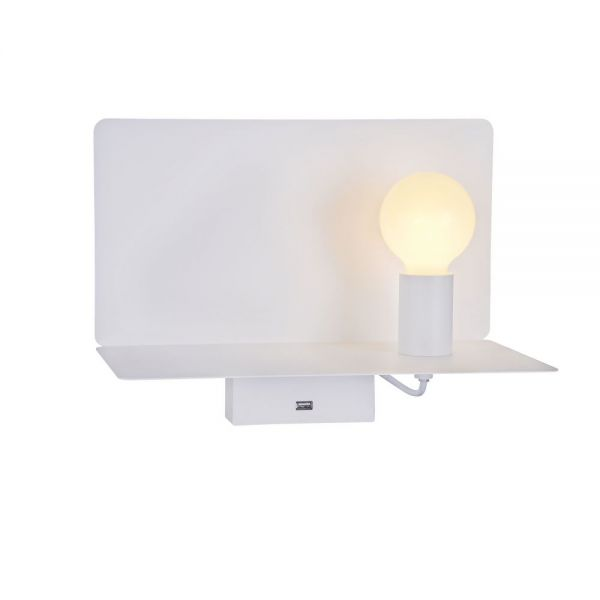 Maytoni LED wall lamp Rack with USB white
