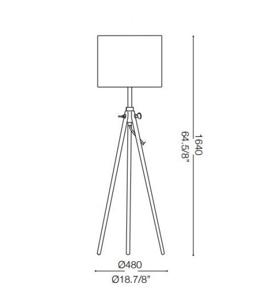 Ideal Lux tripod floor lamp York